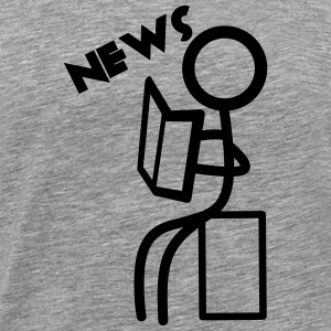 stick man News - Männer Premium T-Shirt