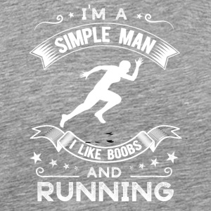 Tits and running - Men's Premium T-Shirt