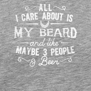 Beard and beer / beard carrier - Men's Premium T-Shirt