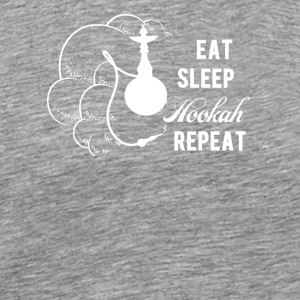 Eat Sleep Hookah Repeat / Shisha - Männer Premium T-Shirt