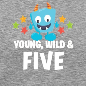 Young wild and Five - Men's Premium T-Shirt