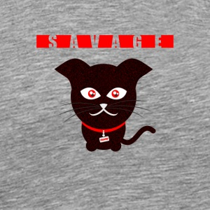 Savage Cat - Männer Premium T-Shirt