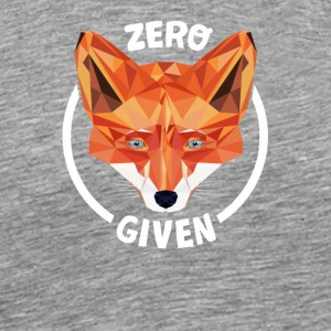 Fuchs Low Poly Design Spruch: Zero Fucks Given - Männer Premium T-Shirt