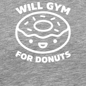 Vil Gym For En Donuts - Herre premium T-shirt
