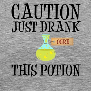 Attention! Goblin Troll Ogre Potion Halloween Costume - Men's Premium T-Shirt