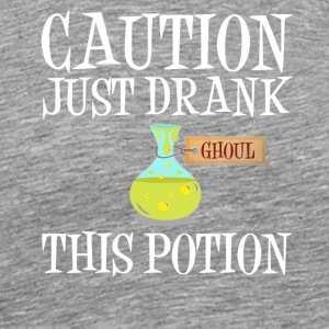 Attention! Ghoul Undead Potion Halloween Costume - Men's Premium T-Shirt