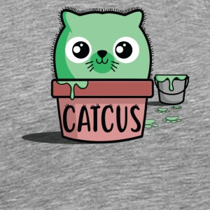 Catcus. Kawaii Cat T-shirt Divertida - Maglietta Premium da uomo