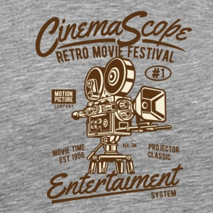 CinemaScope2 Movie Screen Christmas Gift - Men's Premium T-Shirt
