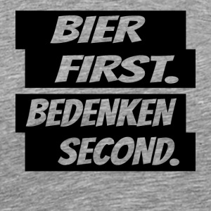 Beer first remember second black - Men's Premium T-Shirt