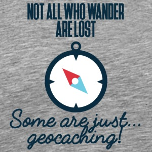Geocaching, geocache, GPS, hiking, nerd - Men's Premium T-Shirt