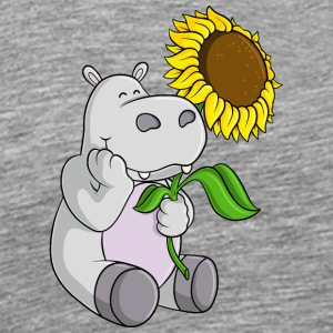 Sunflowers hippo comic - Men's Premium T-Shirt