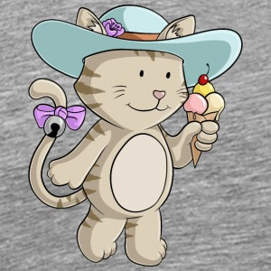 Sommer Cat Comic - Herre premium T-shirt