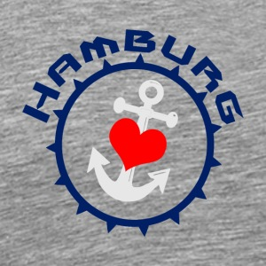Hamburg Anchor with heart2 - Men's Premium T-Shirt