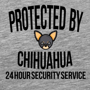 Protected by chihuahua - Männer Premium T-Shirt