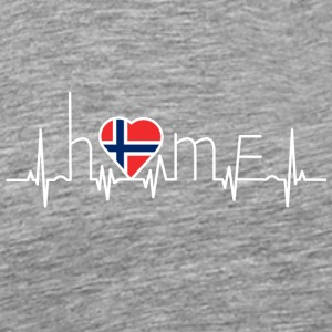 i love home heimat Norway - Men's Premium T-Shirt