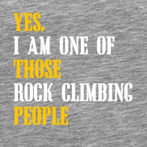 rock climbing people - Men's Premium T-Shirt