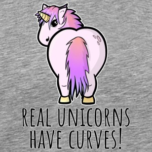 Real unicorns have curves! - Men's Premium T-Shirt