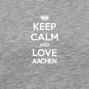 Keep Calm and love AACHEN - Men's Premium T-Shirt