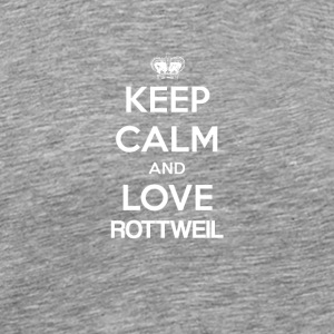 Keep Calm and Love Rottweil - Premium-T-shirt herr