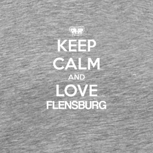 Keep Calm and Love Flensburg - Koszulka męska Premium