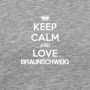 Keep Calm and Love BRUNSWICK - Premium T-skjorte for menn