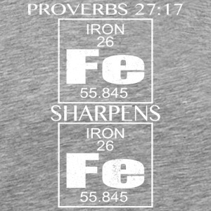 Proverbes 27:17 verset de la Bible T-shirt Bible Citation shirt - T-shirt Premium Homme