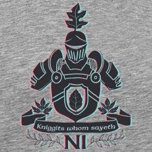 Knight with shield - Men's Premium T-Shirt