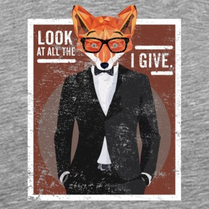 Look At All The Fox I Give Lustiger Spruch Fuchs - Männer Premium T-Shirt