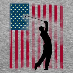 golf golfer buskas USA Team America flagg spor - Premium T-skjorte for menn