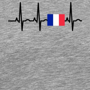 ECG heartbeat France png - Men's Premium T-Shirt