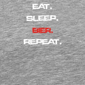 eat sleep repeat BIER - Männer Premium T-Shirt