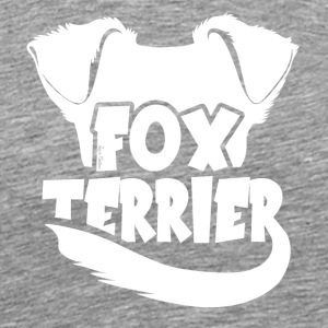 Figur Fox Terrier - Premium T-skjorte for menn