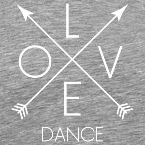 LOVE Dance white - Männer Premium T-Shirt