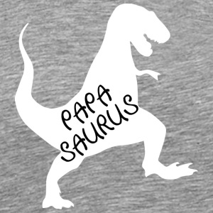 Funny t-shirt for dads with dino - Men's Premium T-Shirt