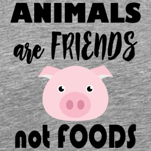 Animals are friends not food - Men's Premium T-Shirt