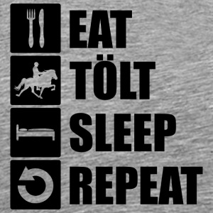 eat tölt sleep repeat - Männer Premium T-Shirt