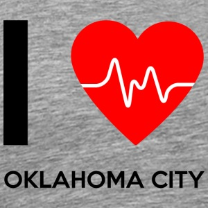 I Love Oklahoma City - I Love Oklahoma City - Herre premium T-shirt