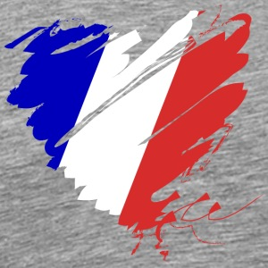 Coeur Cœur France France Grande Nation Rouge - T-shirt Premium Homme