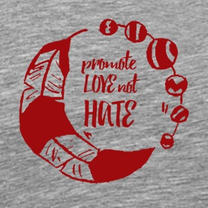 Hippie / Hippies: Promote Love not Hate - Men's Premium T-Shirt