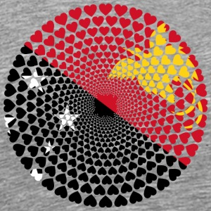 Papua New Guinea Papua New Guinea Love HEART Mandala - Men's Premium T-Shirt