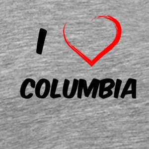 i love columbia black - Männer Premium T-Shirt