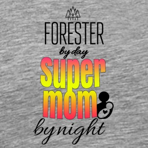 Forester for dag super mor om natten - Herre premium T-shirt