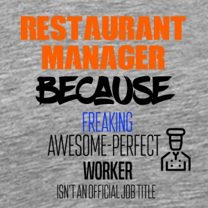 Resturant manager - Men's Premium T-Shirt