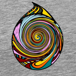 Colorful Spiral Drops - Men's Premium T-Shirt