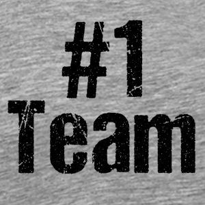 Team Teamplayer Hashtag Number 1 one Mannschaft - Männer Premium T-Shirt