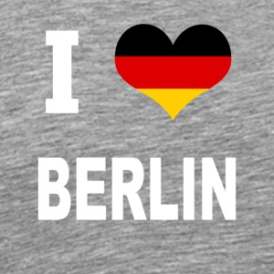 I Love Germany BERLIN - Premium T-skjorte for menn