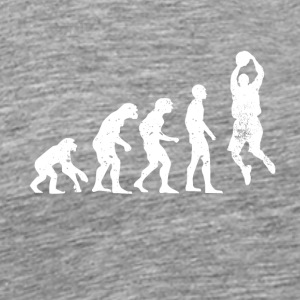 Evolution basketballer basketball sport ball - Männer Premium T-Shirt