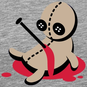 One Stabbed Voodoo Doll - Herre premium T-shirt