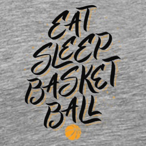 Basketball Eat Sleep Basketball. B-Ball avhengighet - Premium T-skjorte for menn