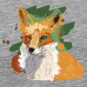 Fuchs Illustration - Männer Premium T-Shirt
